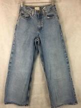 """GAP Super Wide Denim Blue Jeans Size 14 Cotton Inseam 29 Waist 26"""" - $9.85"""
