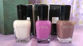 Zoya Nail Polish Lot of 3- LIV, ADEL, MARY - $20.89