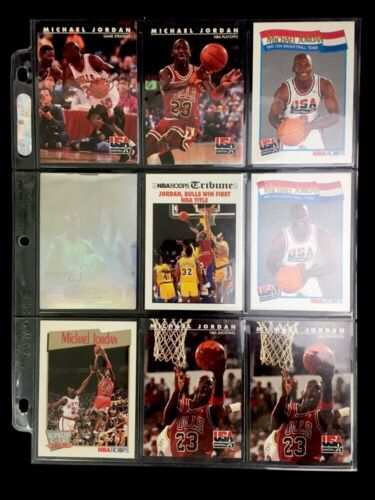 Primary image for Group Nine 1991–92 Michael Jordan Basketball Cards Team Usa Holographic Etc.