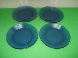 "Set of Four (4) Cobalt Blue 7.5"" Salad Bread Plates - $19.75"