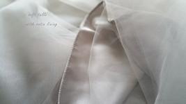 Grey Knee Length Midi Tulle Skirt Gray Full Circle Tulle Skirt Any Size image 6
