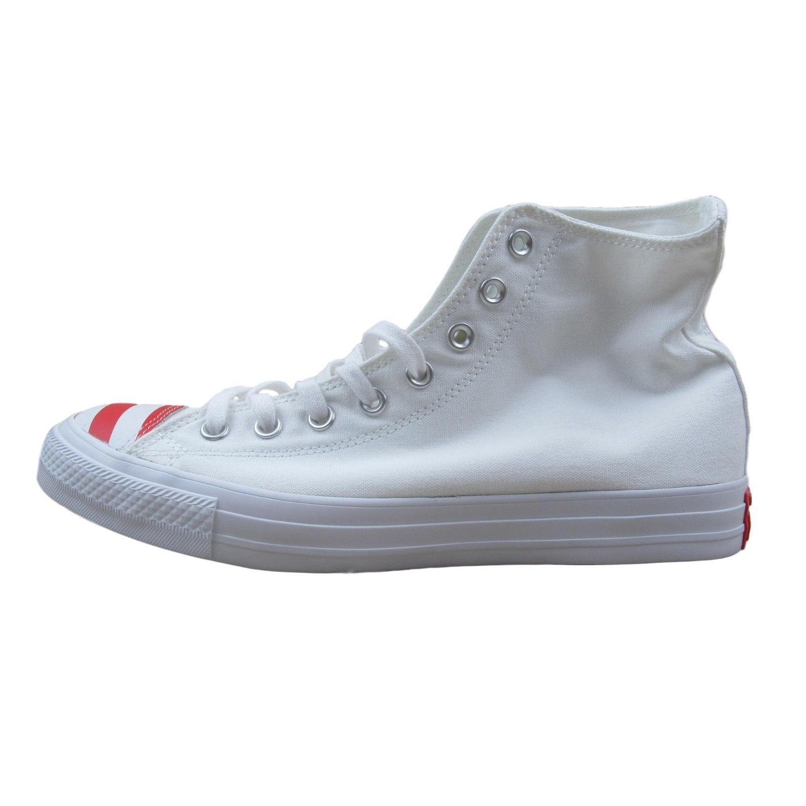 67dc3a83728 Converse Chuck Taylor All Star High Size 9 Shoes Mens Toe Flag USA White  153911C