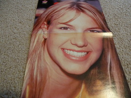 Britney Spears Nsync teen magazine poster clipping eating a lollopop Popstar Bop