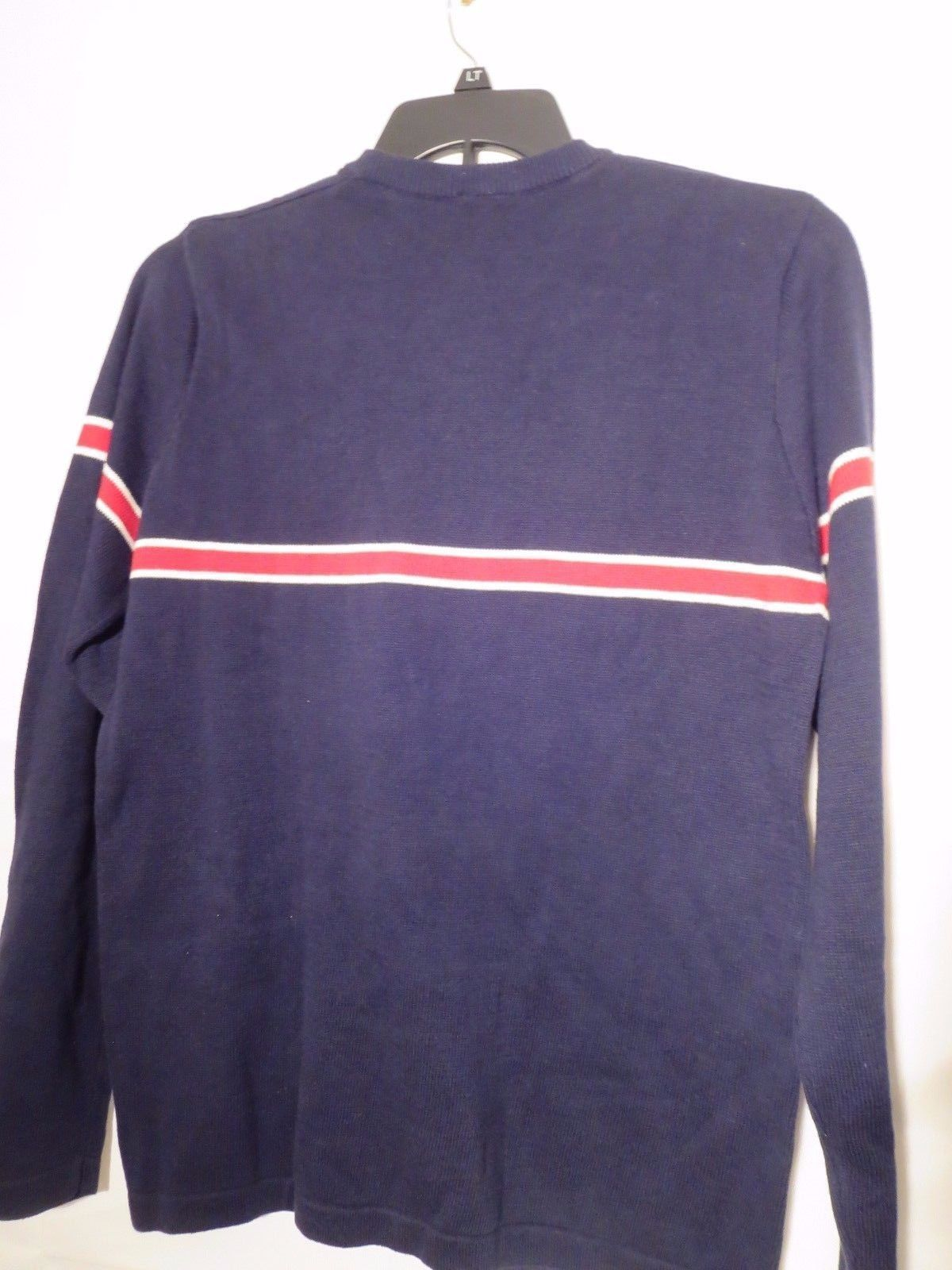Nautica 50% OFF Men's Size M Pullover Sweater Navy Blue w/Stripes New With Tag
