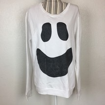 Junior's Halloween White Ghost Face Crewneck Pullover Sweater Size XL Co... - €9,22 EUR