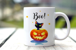 New Mug - Halloween Mug  Black Cat Mug  Fall Decor - $10.99+