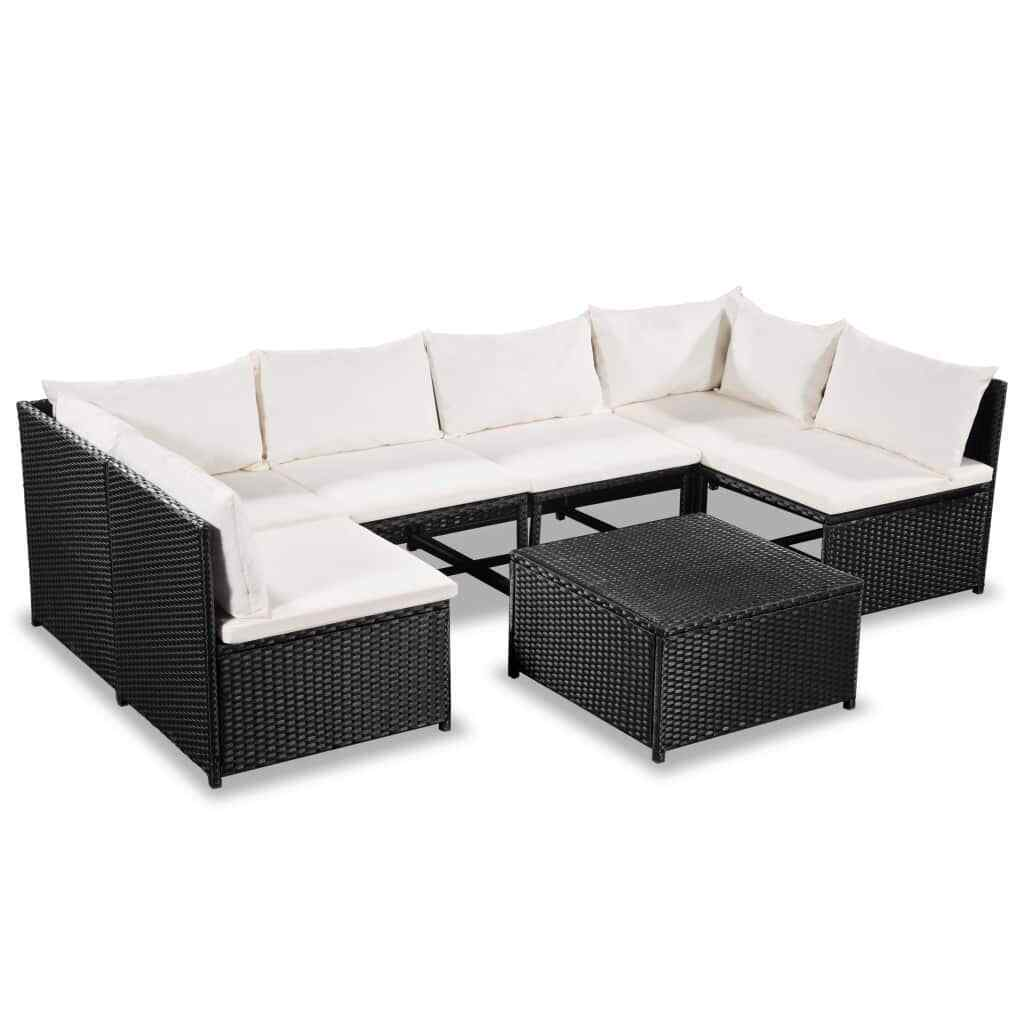 vidaXL Garden Sofa Set 21 Pieces Poly Rattan Wicker Outdoor Lounge Furniture