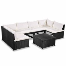 vidaXL Garden Sofa Set 21 Pieces Poly Rattan Wicker Outdoor Lounge Furni... - $366.99