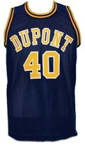 Randy Moss #40 Dupont High School Basketball Jersey New Sewn Navy Blue Any Size image 4