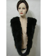 """Vintage Black Fur Mink? Wrap 6"""" x 90"""" Edie Adams - $134.99"""