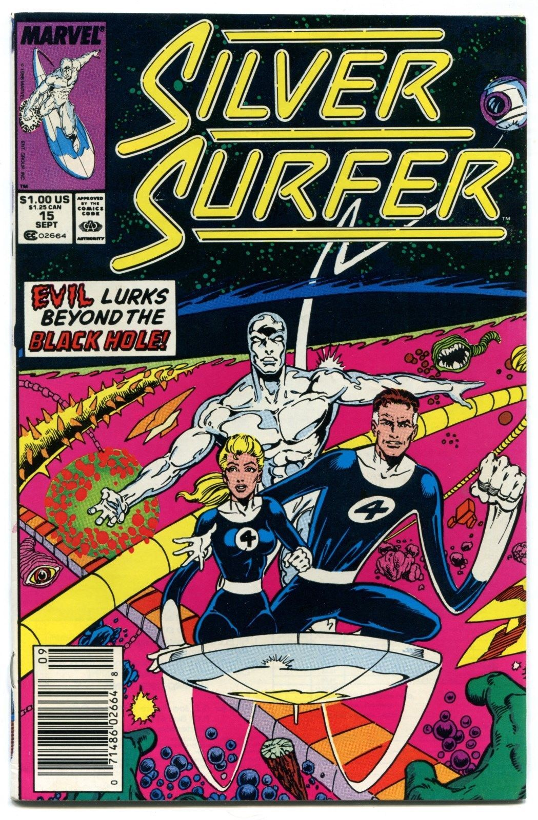 Silver Surfer 15 NM- 9.2 Fantastic Four Third Series Marvel Comics 1988