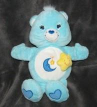 NON-TALKING BEDTIME CARE BEAR KIDS II 2 BEDTIME BABY BLUE INFANT PLUSH TOY - $16.82