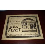 William M. PIZOR The SEA FEAST 5 ORG 1918 LOBBY... - $99.99