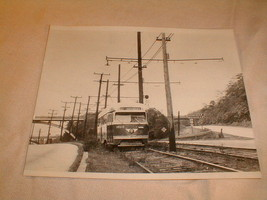railroad bus train photo photograph 1950s reprint ardmore pittsburgh B/W - $60.97