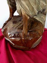 Mid century Black Forest German Eagle wood carved hunting deco design bauhaus image 9
