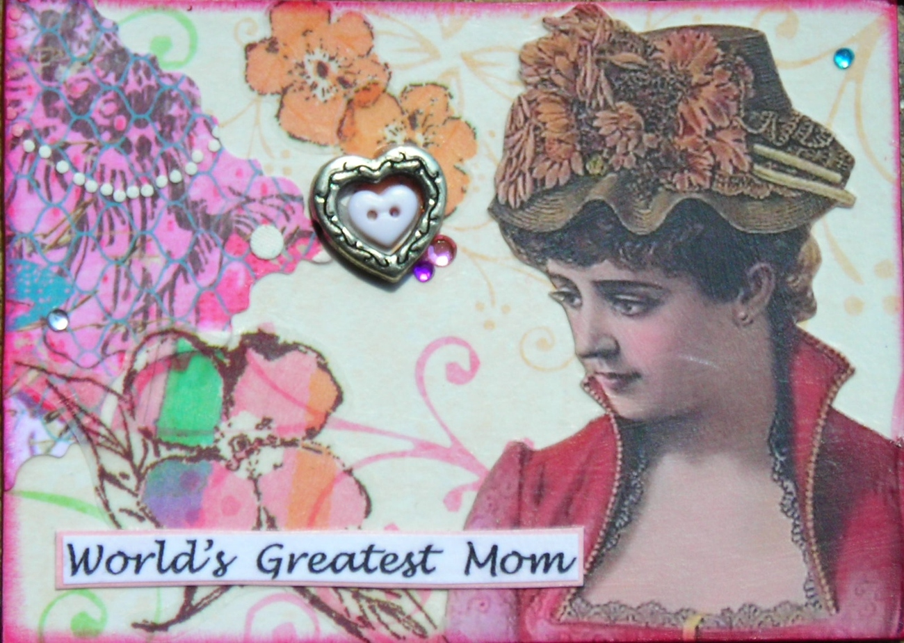 Primary image for ACEO ATC Art Collage Special Occasion Mothers Day World Great Mom Love Birthday