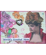 ACEO ATC Art Collage Special Occasion Mothers Day World Great Mom Love B... - $5.00