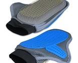 YOPINDO Double Sided Pet Grooming Glove Tool, 2 in 1 Pet Deshedding Brush Mitt w