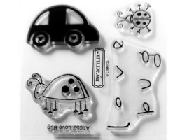 """Close to My Heart """"Love Bug"""" Clear Cling Acrylic Stamp Set #A1053"""