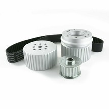 Chevy Small Block SBC Long Water Pump Gilmer Style Pulley Kit (SILVER)