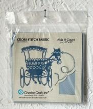 "Charles Craft 14 Count Aida Cross Stitch Fabric 100% Cotton Blue Ridge 12"" x 18"" - $6.60"