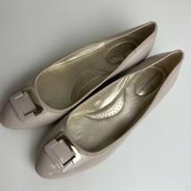 Bandolino Womens Tad Beige Patent Wedge Heels Shoes 9 Medium (B,M) Neutral - $24.74