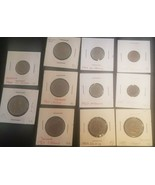 Lot of 11 mixed foreign coins.  1950-1969 - Pfennigs, Krones, Schilling,... - $8.77