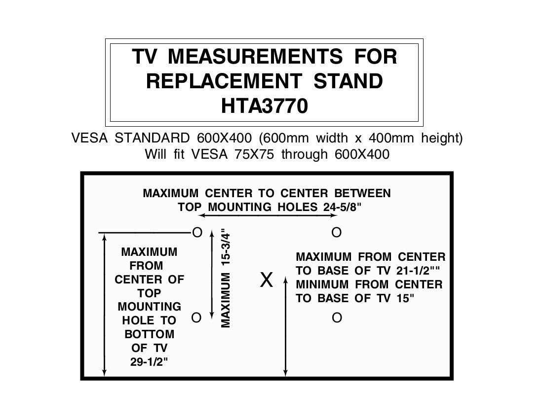 New Replacement Swivel TV Stand/Base for JVC LT-50A330