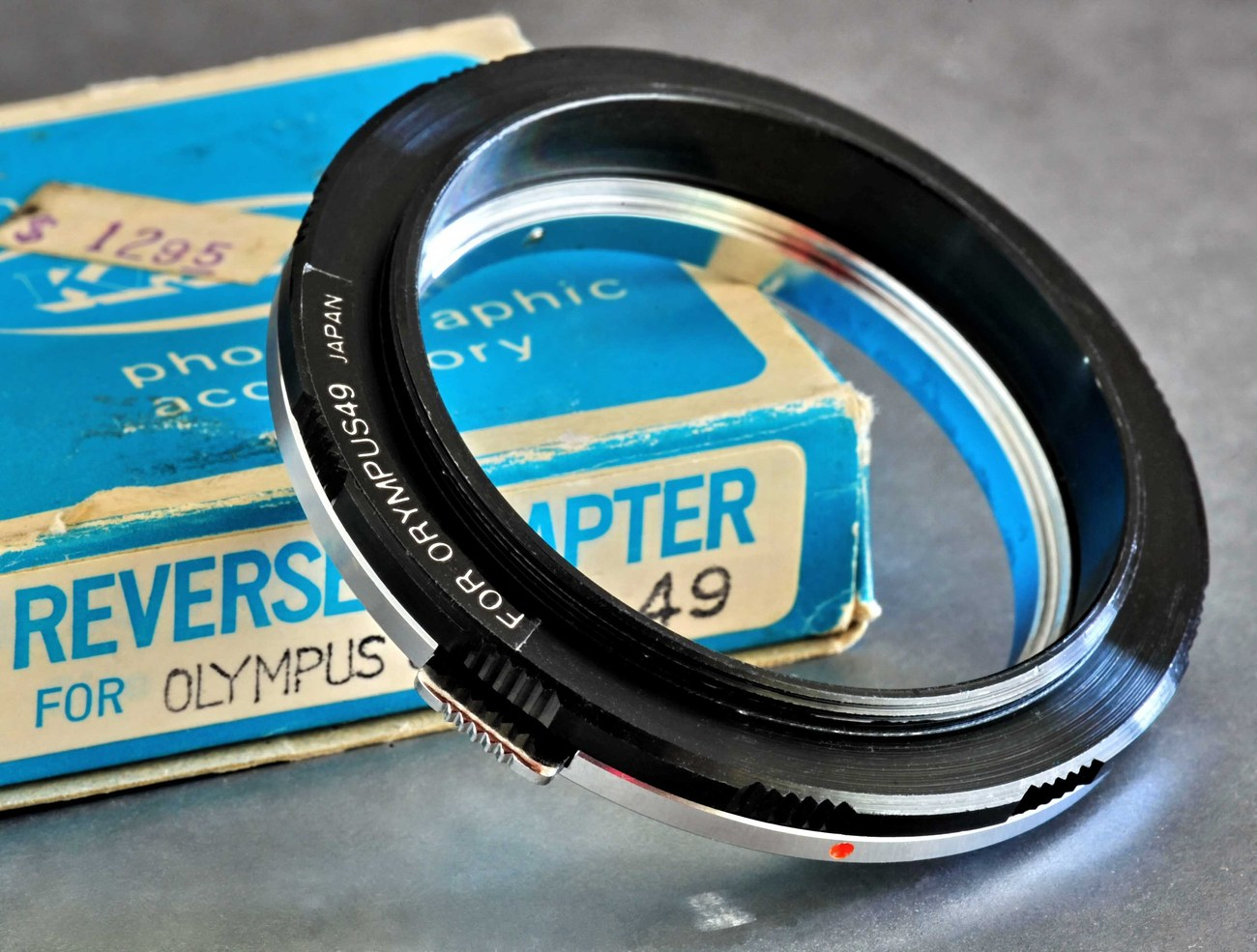 Olympus OM Lens Reverse Adapter NOS 50mm f/1.8 Lens for Macro Photography Minty