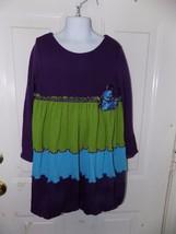Bonnie Jean Purple/ Gree/ Blue Knit Long Sleeve Dress Size 6X Girl's EUC... - $19.50