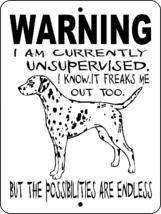 5018 DALMATIAN ALUMINUM  DOG SIGN VINYL OUTDOOR INDOOR 9 X 12 - $14.71