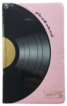 """Yoobi Pink Journal - 5.2"""" x 8.5"""" - 80 lined sheets - Vinyl Record - NEW sealed image 1"""