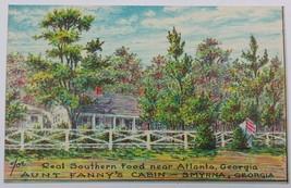 VTG Postcard Antebellum South Restaurant Aunt Fanny's Cabin Smyrna Atlan... - $13.67