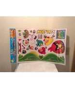 New Sheet Angry Birds Wall Decor Enviromental removable Wall Sticker Dec... - $12.95