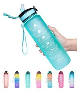 Giotto 32oz Leakproof BPA Free Drinking Water Bottle with Time Marker & ... - $34.22