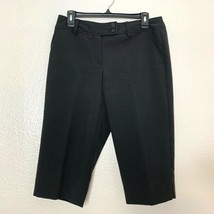 Worthington Womens Sz 10 P Modern Fit Capri Pants Career Black - $12.65