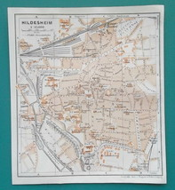 "1925 BAEDEKER MAP - GERMANY Hildesheim City Plan 5.5 x 6"" (13 x 15 cm) G... - $8.55"