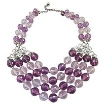 Napier Faceted Purple Bead Couture Runway Bib Necklace c. 1950s  - €181,92 EUR