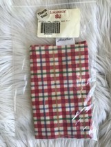 Longaberger #2566631 Fabric Liner Picnic Pal Cherry Red Plaid Holiday New  - $9.89