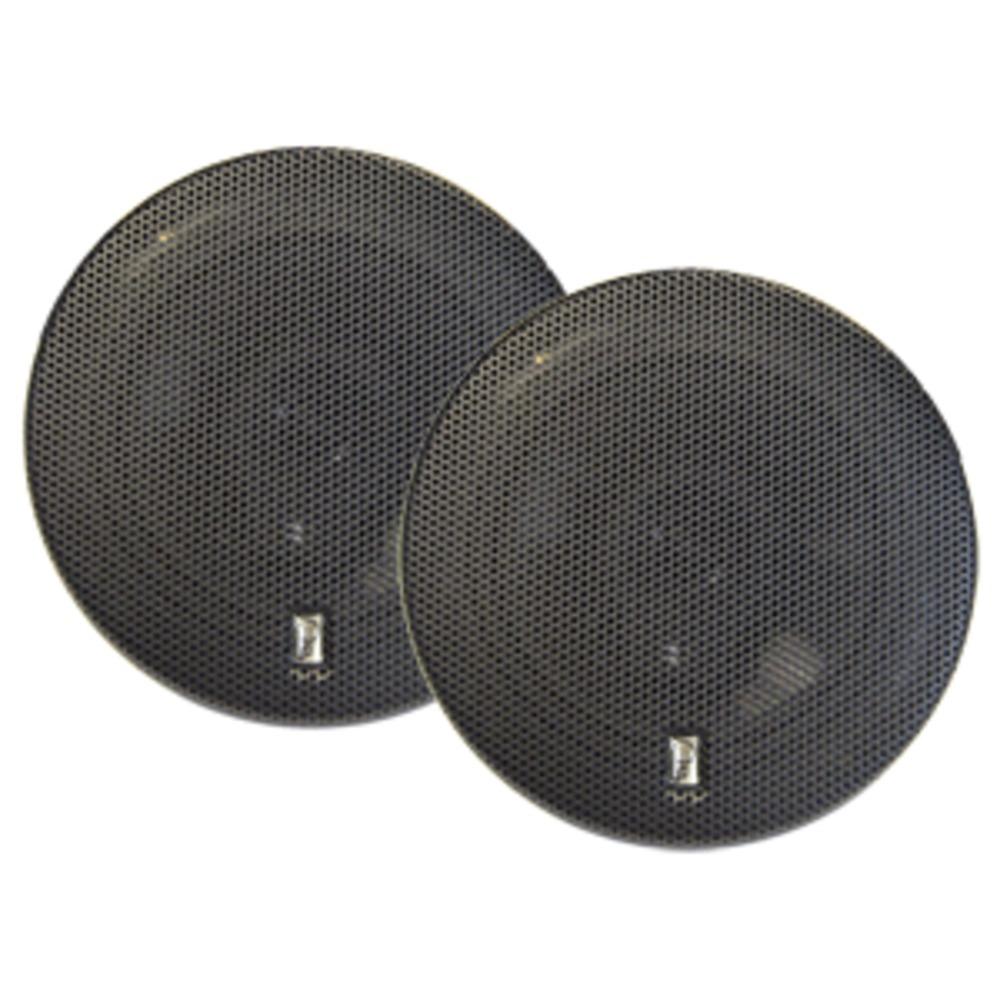 Poly-Planar 6 Titanium Series 3-Way Marine Speakers - (Pair) Black