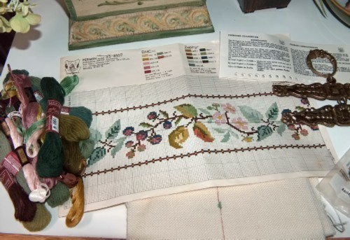 Primary image for Permin Floral Bell Pull Counted Cross Stitch Kit