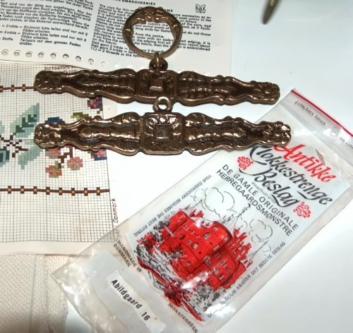 Permin Floral Bell Pull Counted Cross Stitch Kit