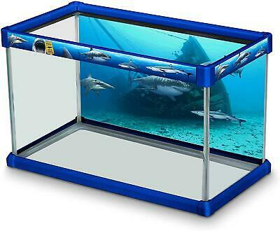 Primary image for Elive Decorative Fish Tank Aquarium Kit Dangerous Waters Sharks 10Gal Background