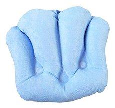 Inflatable PVC Bath Spa Pillow Soft Towel Cloth Sucker Tub Cushion-Blue - $18.54