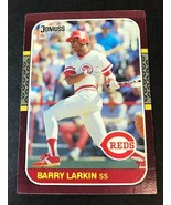 1987 Donruss Opening Day  Set #191 Barry Larkin Cincinnati Reds Rookie Card - $1.34
