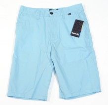 Hurley Southside Trouser Blue Flat Front Casual Shorts Men's NWT - $37.49