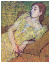 Decor Poster.Wall interior design.Lady resting on couch.Home Wall Art.1903 - $11.30+