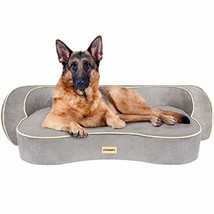 URPOWER Dog Bed, Orthopedic Memory Foam Pet Bed with Washable Cover & Water-Resi