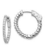 14k Wg Diamond Round Hoop W/safety Clasp Earrings 6 - $1,564.56