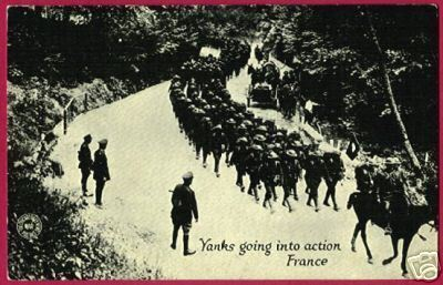 FRANCE YANKS Troups Army Chicago Daily News War PC